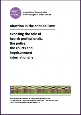 Abortion in the criminal law, 2013