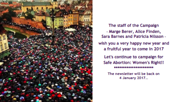 Campaigning for the Right to Safe Abortion: Highlights of the Year 2016