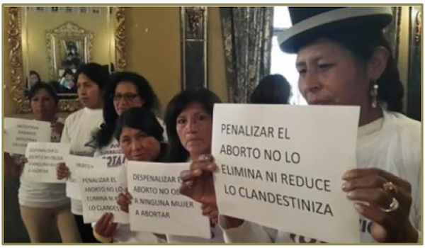 Abortion law reform debate in the public domain in Bolivia