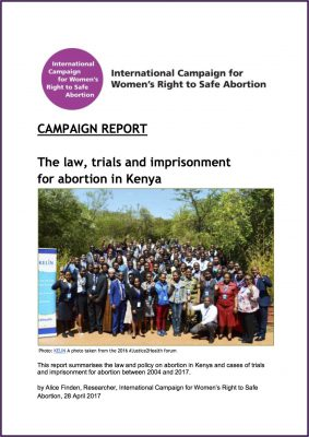 [English] The law, trials and imprisonment for abortion in Kenya, 2017