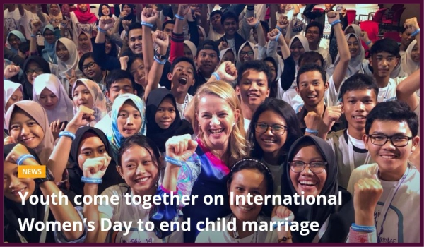 CHILD MARRIAGE – Historic drop in numbers of child marriages globally