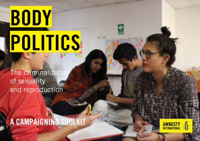 Body Politics Toolkit; Amnesty, 2018