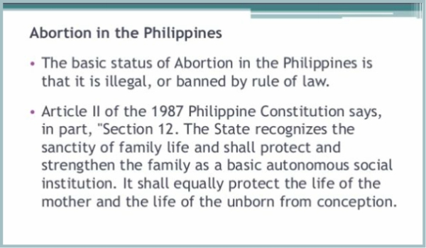 PHILIPPINES – The Philippines' new post-abortion care policy