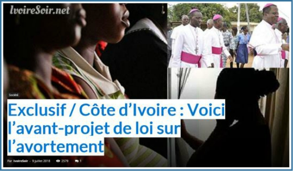 CÔTE D'IVOIRE – Ivoire Soir.net publishes an exclusive story: text of a draft bill on sexual and reproductive health, including abortion