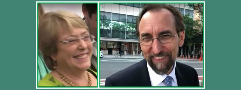 UN High Commission for Human Rights: Michelle Bachelet appointed to succeed UN High Commissioner Zeid Ra'ad Al Hussein