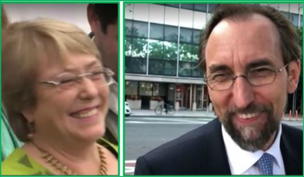 UN HIGH COMMISSION FOR HUMAN RIGHTS – Michelle Bachelet appointed to succeed UN High Commissioner for Human Rights Zeid Ra'ad Al Hussein