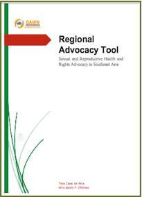 South East Asia: Sexual Reproductive Health and Rights Advocacy: DAWN, 2015