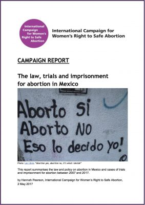 [English] The law, trials and imprisonment for abortion in Mexico, 2017