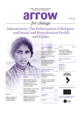 Intersections: The Politicisation of religion and Sexual and Reproductive Health and Rights: ARROW, 2017