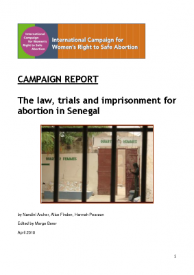 The law, trials and imprisonment for abortion in Senegal (April 2018)