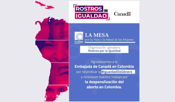 COLOMBIA – La Mesa receives award from Canadian Embassy
